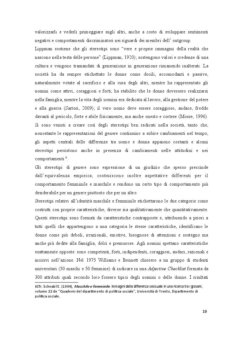 Estratto dalla tesi: La Medicina di Genere: questa s/conosciuta. Uno studio psicosociale presso un campione di studenti di Medicina