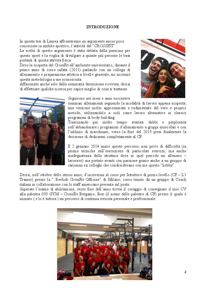 Crossfit: lo Sport del Fitness - Oltre i Tradizionali Metodi - Tesi di Laurea