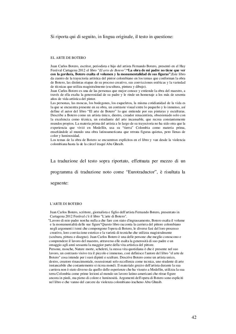 Estratto dalla tesi: La Traduzione: attività individuale o scelta automatizzata?