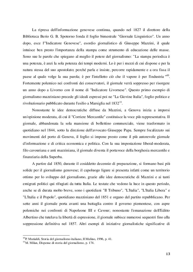 """Estratto dalla tesi: Vita e morte di un giornale: la chiusura del """"Corriere Mercantile"""" dopo 191 anni di cronaca genovese"""