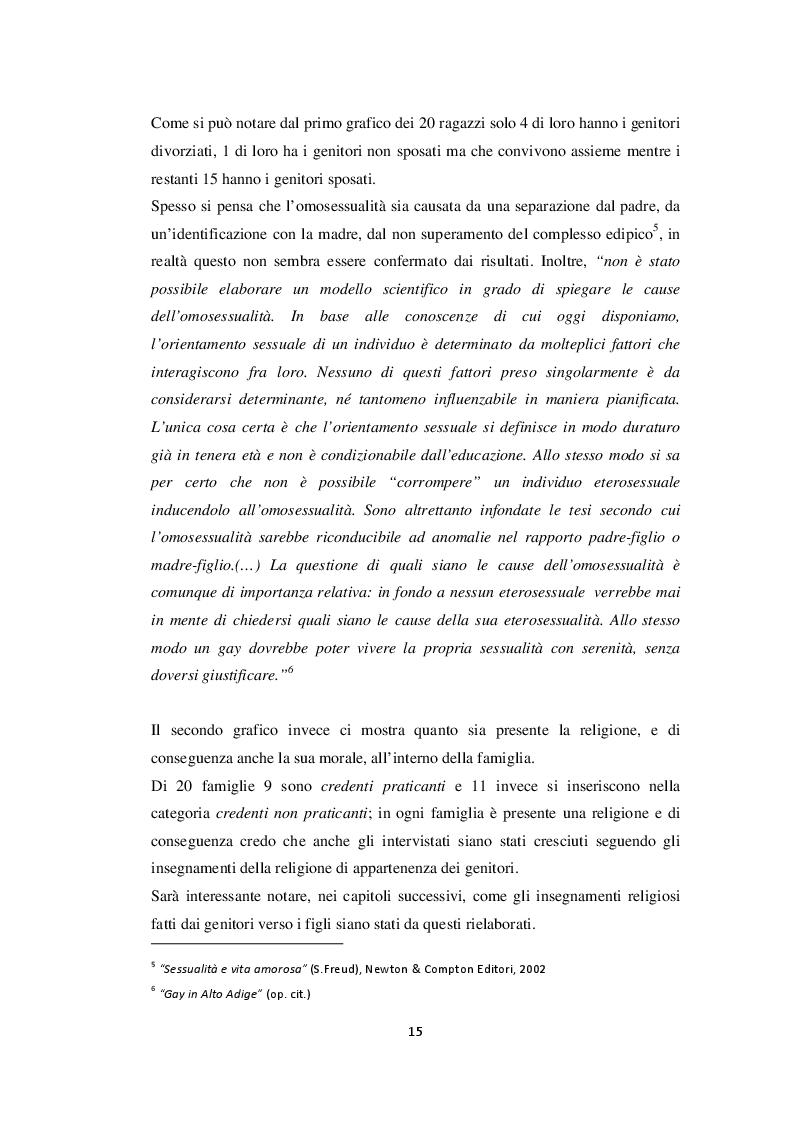 Estratto dalla tesi: HOT or NOT. Un punto di vista sui vissuti ed esperienze di alcuni adolescenti omosessuali della provincia di Rimini