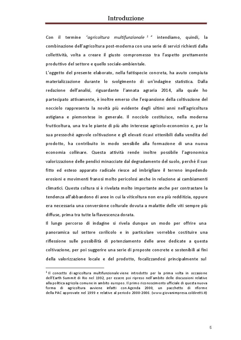 Anteprima della tesi: La valorizzazione del nocciolo. Nuove sfide per il nostro territorio, Pagina 3