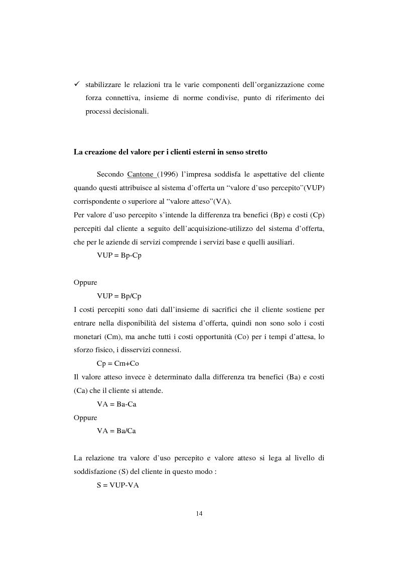 Anteprima della tesi: Sistemi di analisi e gestione della soddisfazione e della fedeltà del cliente, Pagina 10