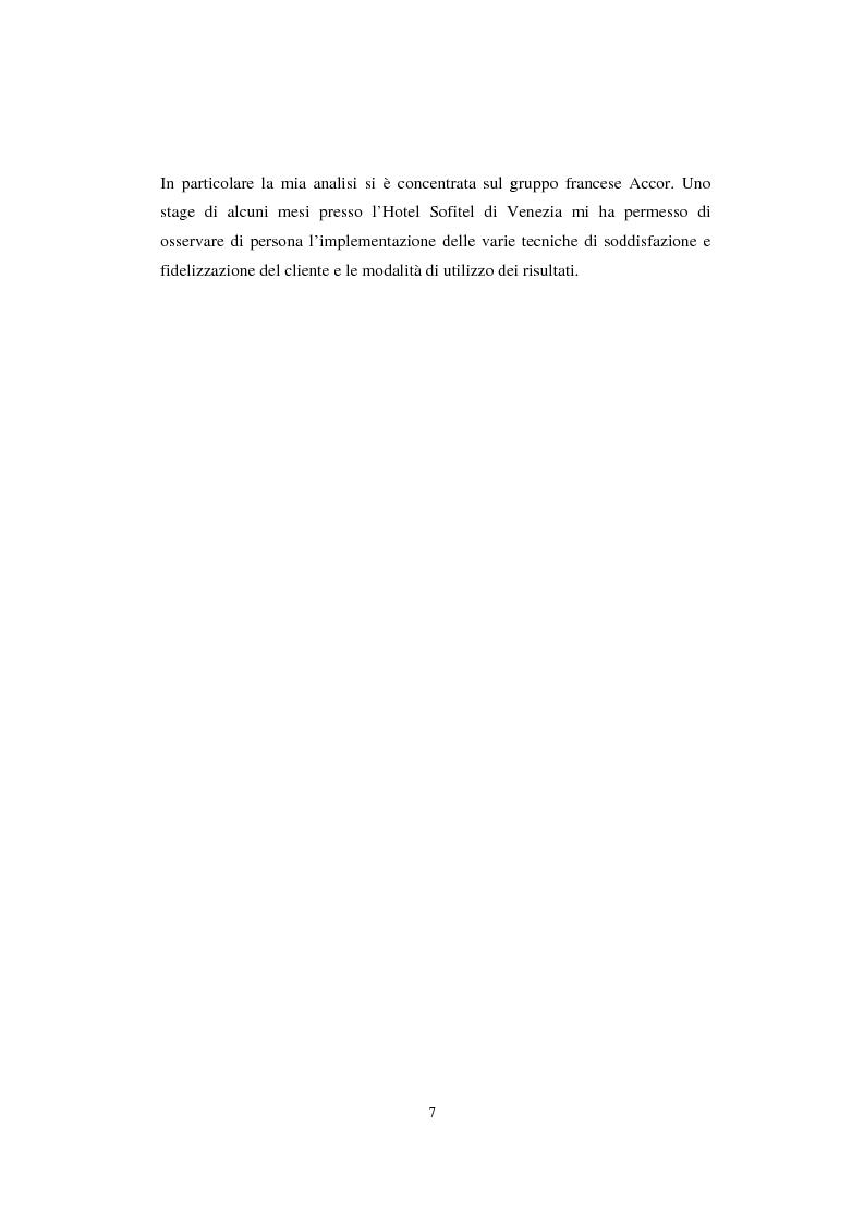 Anteprima della tesi: Sistemi di analisi e gestione della soddisfazione e della fedeltà del cliente, Pagina 3