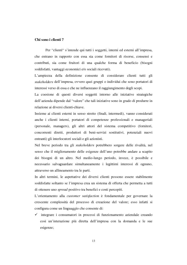 Anteprima della tesi: Sistemi di analisi e gestione della soddisfazione e della fedeltà del cliente, Pagina 9