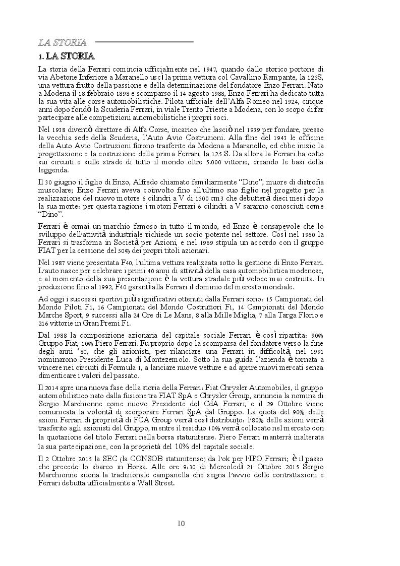 Estratto dalla tesi: La Metodologia del Business Case - Il Caso Ferrari SpA