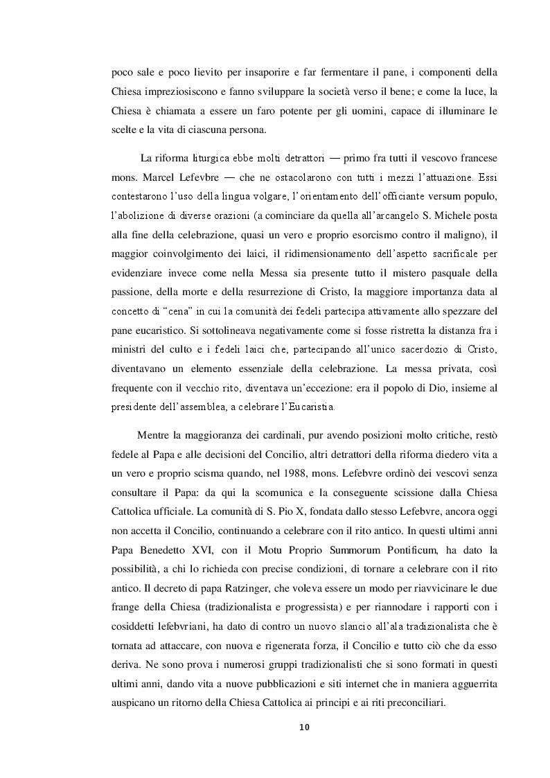 Estratto dalla tesi: La musica sacra dopo il Concilio: funzioni, dibattiti, protagonisti.