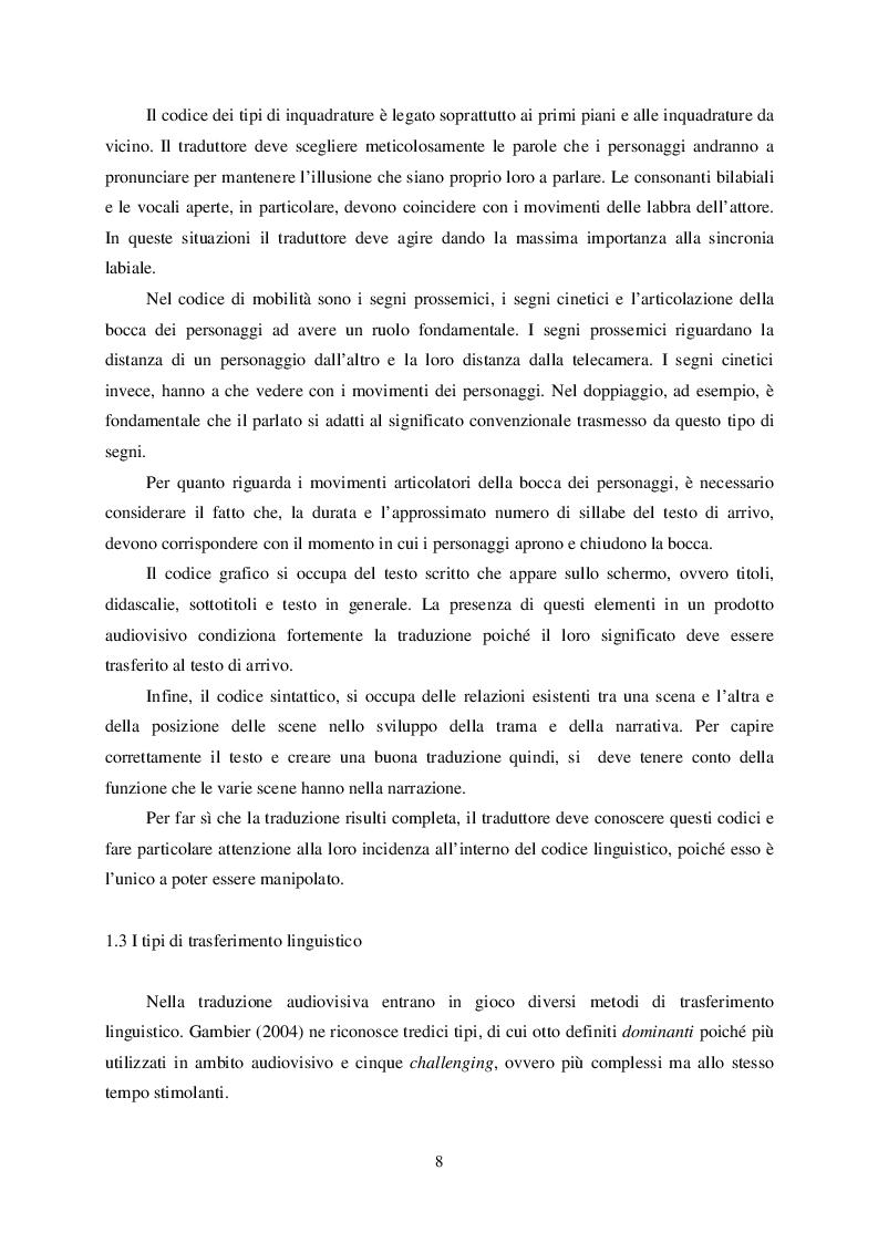 Anteprima della tesi: L'atto linguistico ''scusarsi'' nel doppiaggio dall'inglese all'italiano, Pagina 5