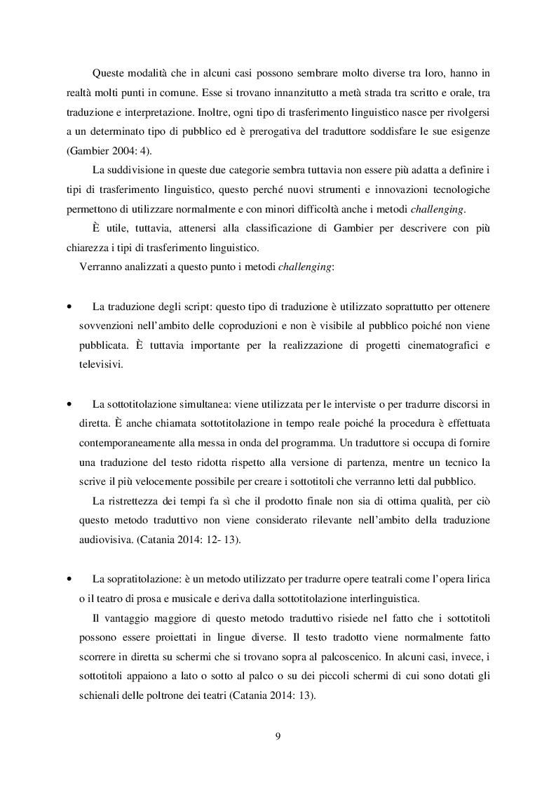Anteprima della tesi: L'atto linguistico ''scusarsi'' nel doppiaggio dall'inglese all'italiano, Pagina 6