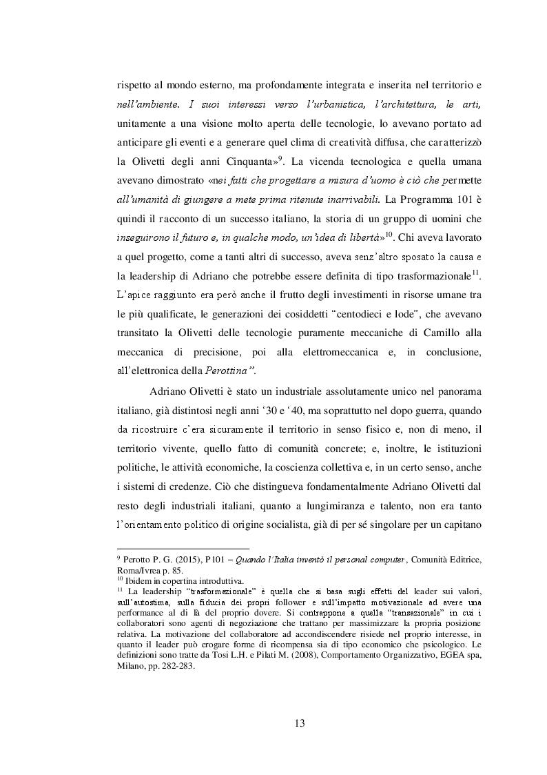 Estratto dalla tesi: Adriano Olivetti, pianificare il territorio per riformare la società