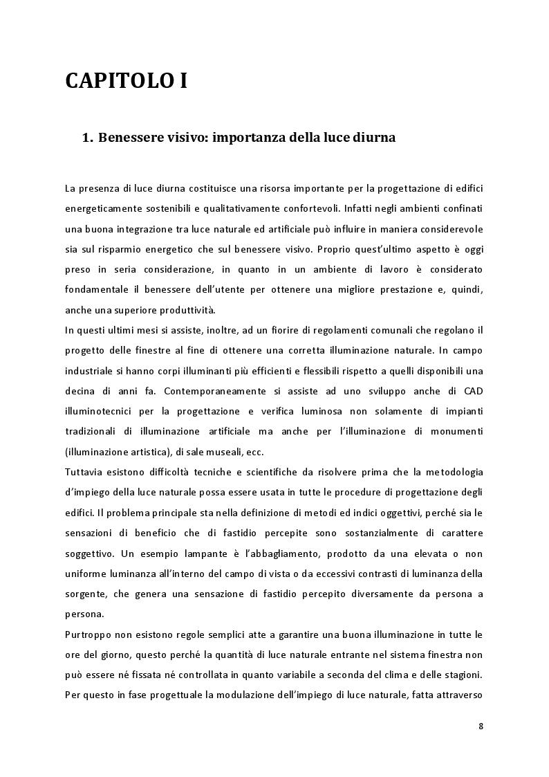 Estratto dalla tesi: Daylighting: analisi energetica del sistema finestra