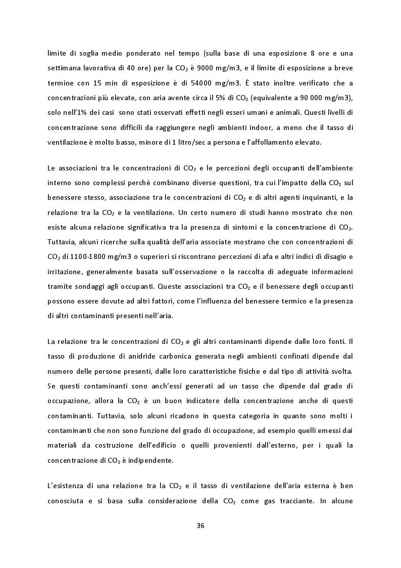 Estratto dalla tesi: Benessere ambientale indoor (IEQ): studio sperimentale sulla percezione soggettiva degli occupanti