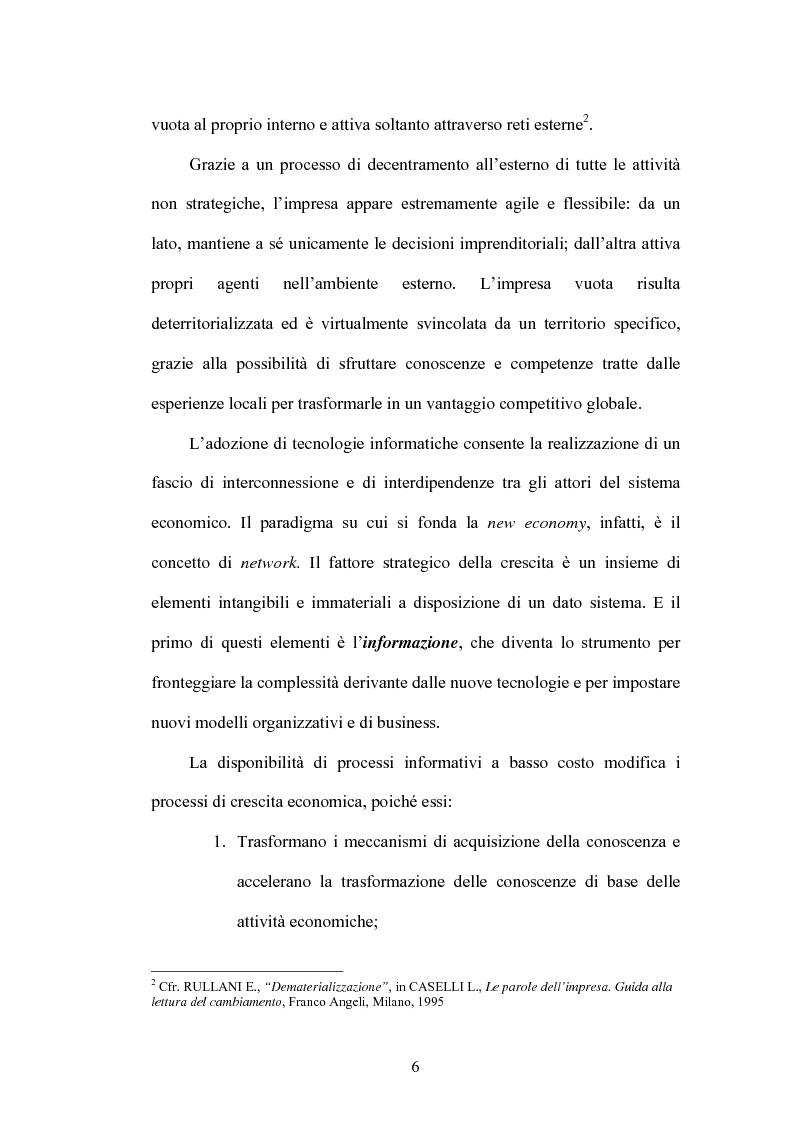Anteprima della tesi: L'organizzazione del commercio elettronico business to business: un caso empirico nel settore bancario, Pagina 3