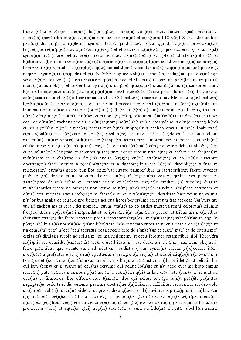 Estratto dalla tesi: Il legendarium di Pietro Calò. Saggio di edizione (capitoli 576-586)
