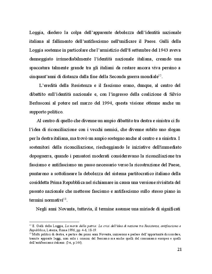 Estratto dalla tesi: Il Giorno della Memoria. La commemorazione della Shoah in Italia