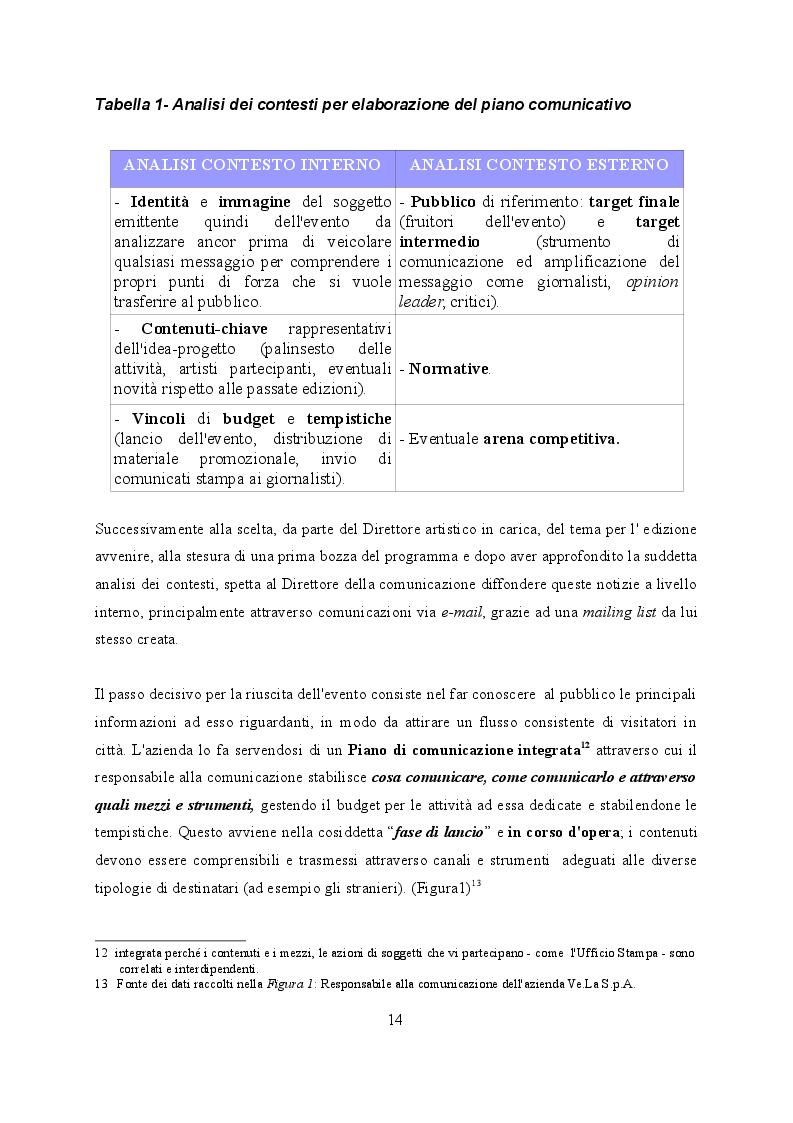 Estratto dalla tesi: Caratteri organizzativi del Carnevale di Venezia. Un evento fra tradizione ed innovazione