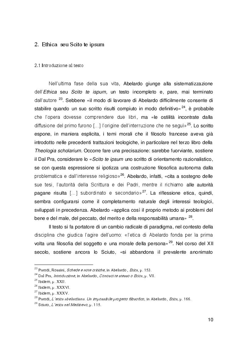 Estratto dalla tesi: Il testamento spirituale di Pietro Abelardo, Monita ad Astralabium ed Ethica a confronto