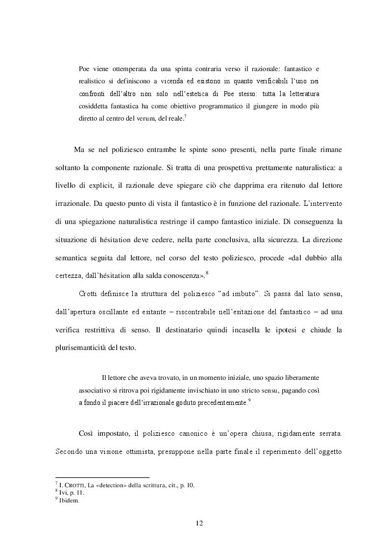 Estratto dalla tesi: Oltre l'enigma... Analisi del genere poliziesco e confronto con gli autori italiani contemporanei: Camilleri, Lucarelli e Carlotto