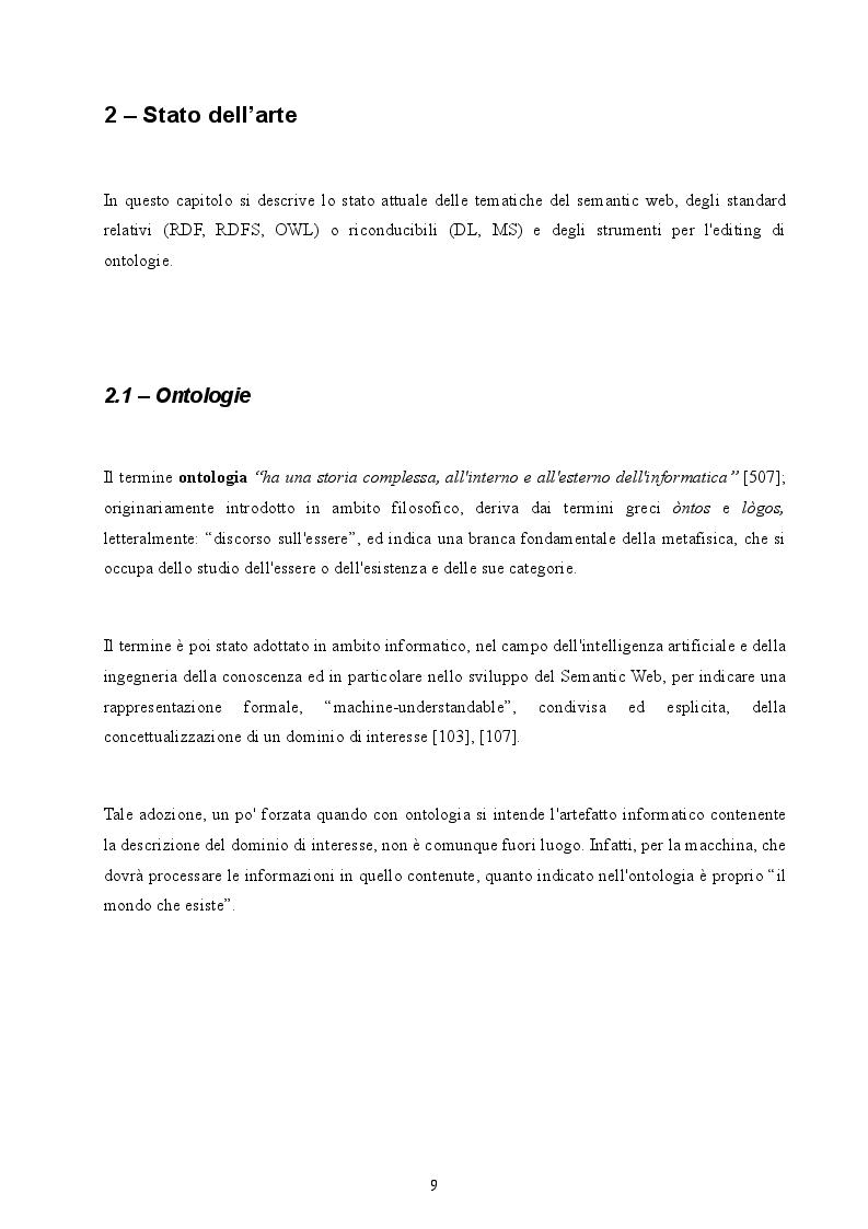 Anteprima della tesi: Realizzazione di un parser per Logiche Descrittive all'interno di un Ontology Editor, Pagina 3