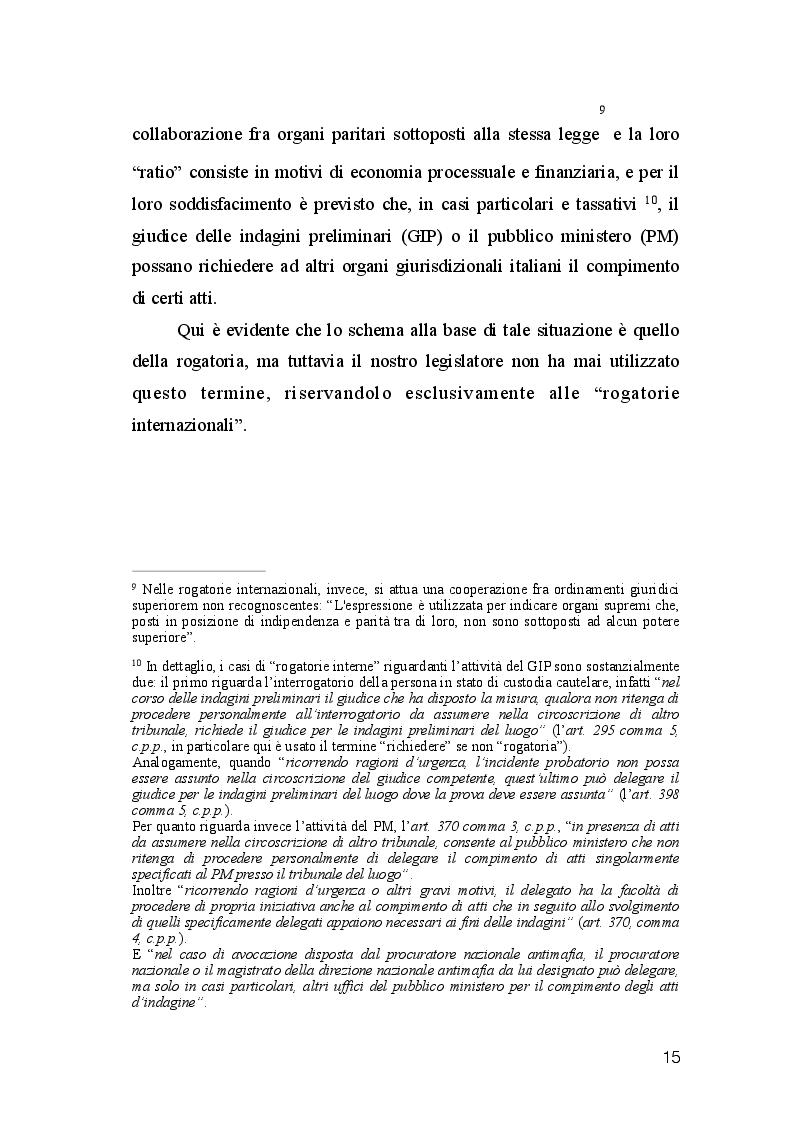 Estratto dalla tesi: La Rogatoria nel Processo Penale