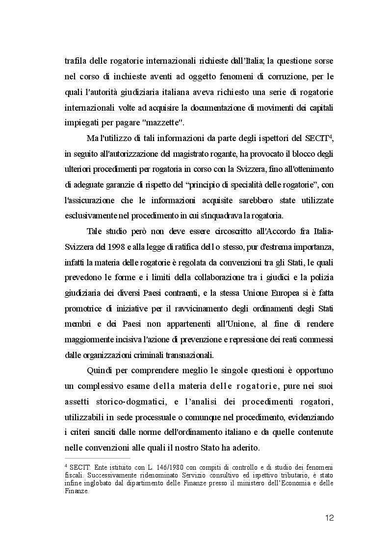 Anteprima della tesi: La Rogatoria nel Processo Penale, Pagina 5