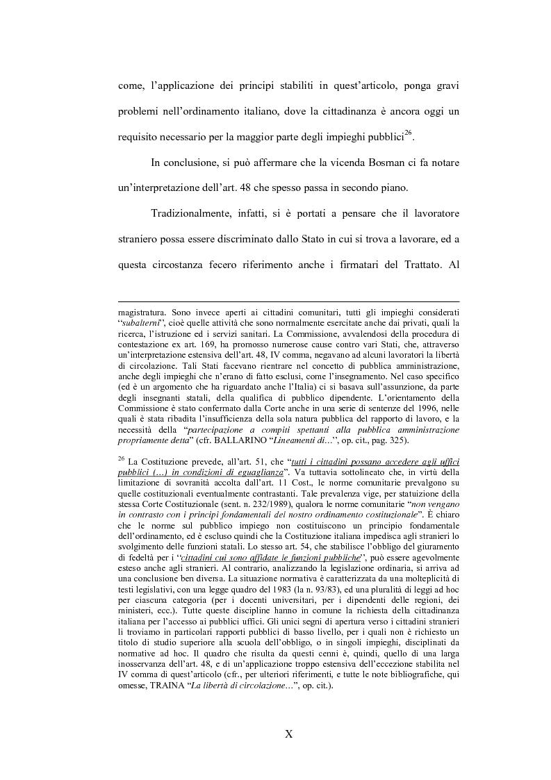 Anteprima della tesi: La sentenza Bosman ed i suoi effetti sull'ordinamento sportivo, Pagina 10