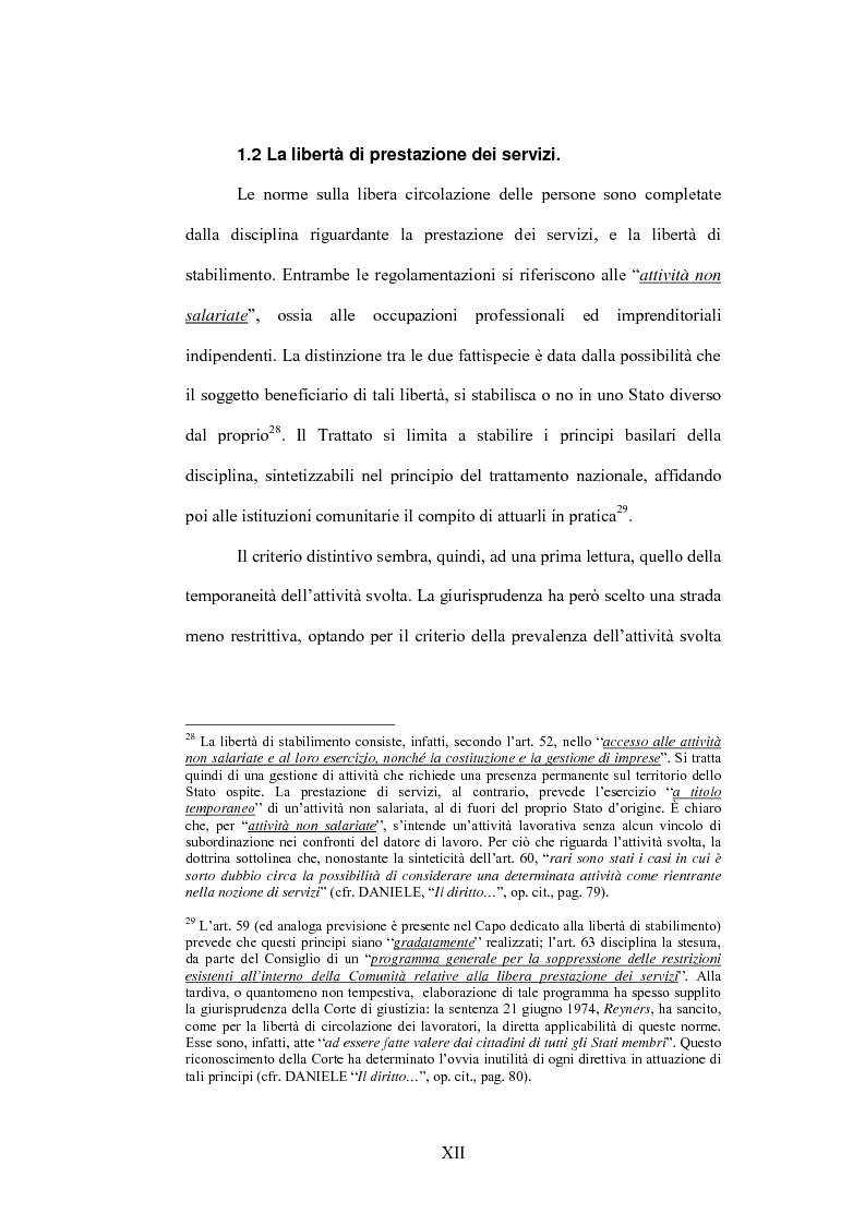 Anteprima della tesi: La sentenza Bosman ed i suoi effetti sull'ordinamento sportivo, Pagina 12