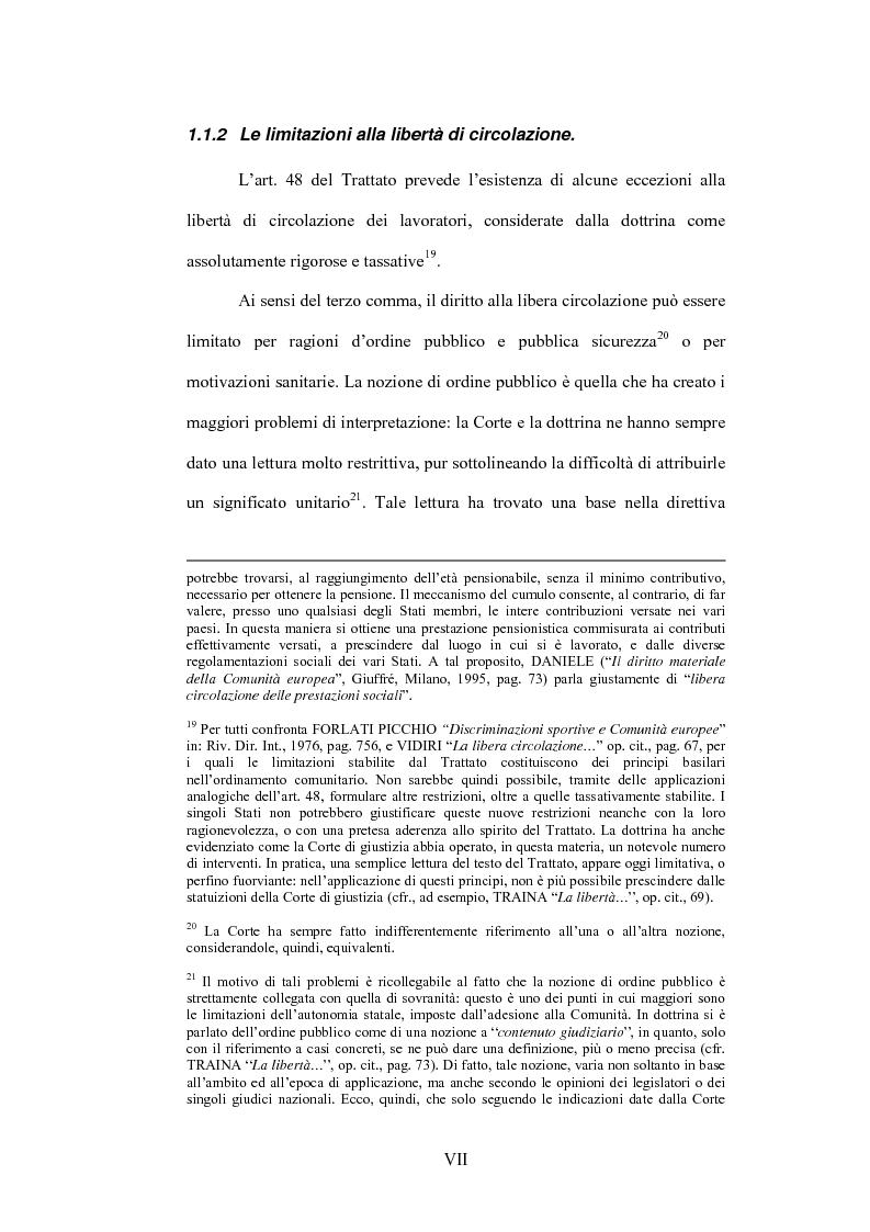 Anteprima della tesi: La sentenza Bosman ed i suoi effetti sull'ordinamento sportivo, Pagina 7