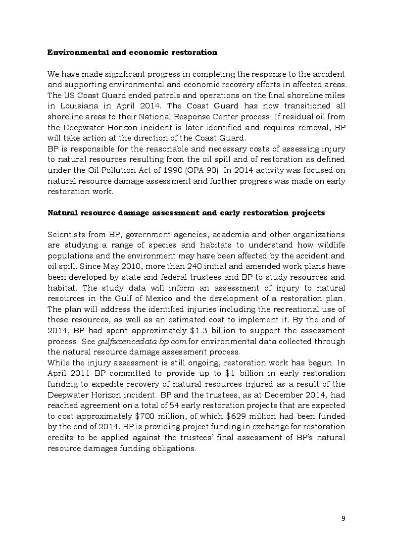 Estratto dalla tesi: Pre - e post-modificazione nei sintagmi nominali complessi dei testi economici: L'annual report 2014 di BP