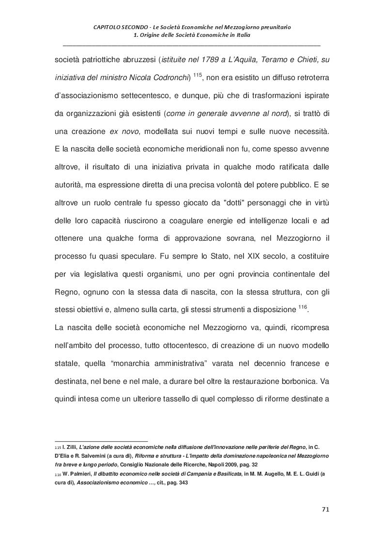 Estratto dalla tesi: L'economia del Mezzogiorno preunitario: le Società Economiche e la provincia di Terra di Lavoro