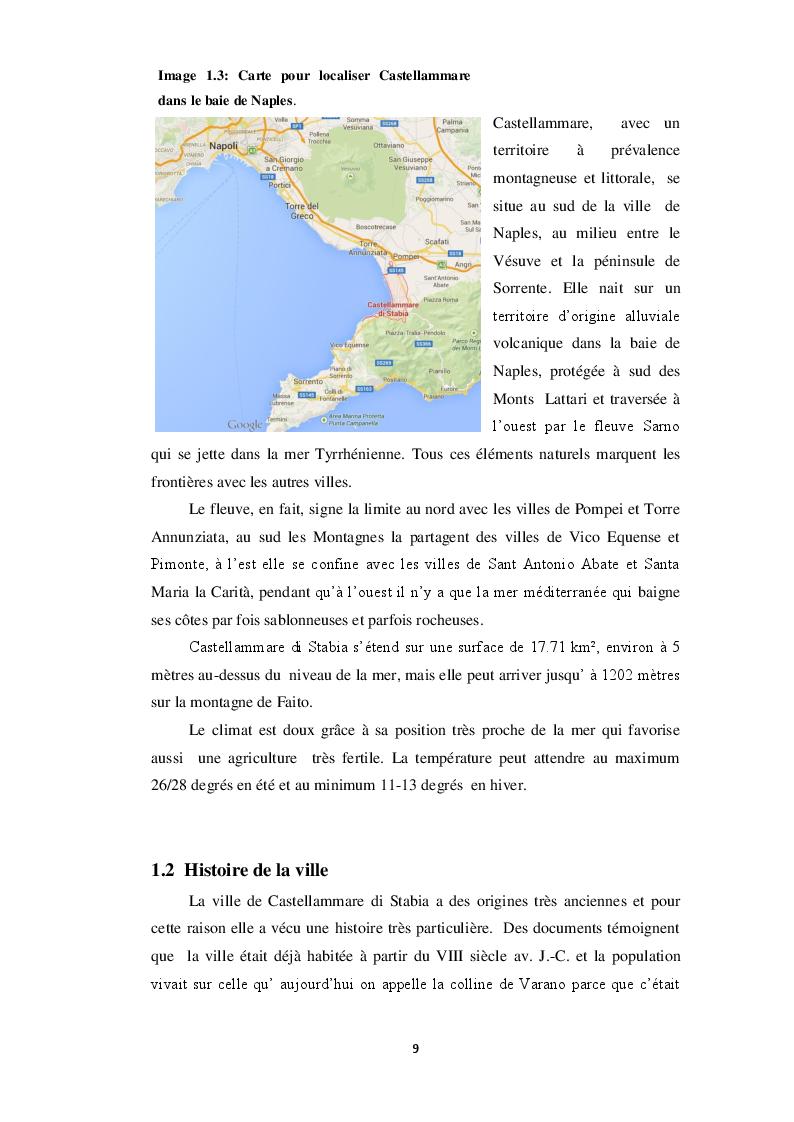 Estratto dalla tesi: Castellammare di Stabia: analyses, stratégies et perspectives de développement au cours de la crise économique