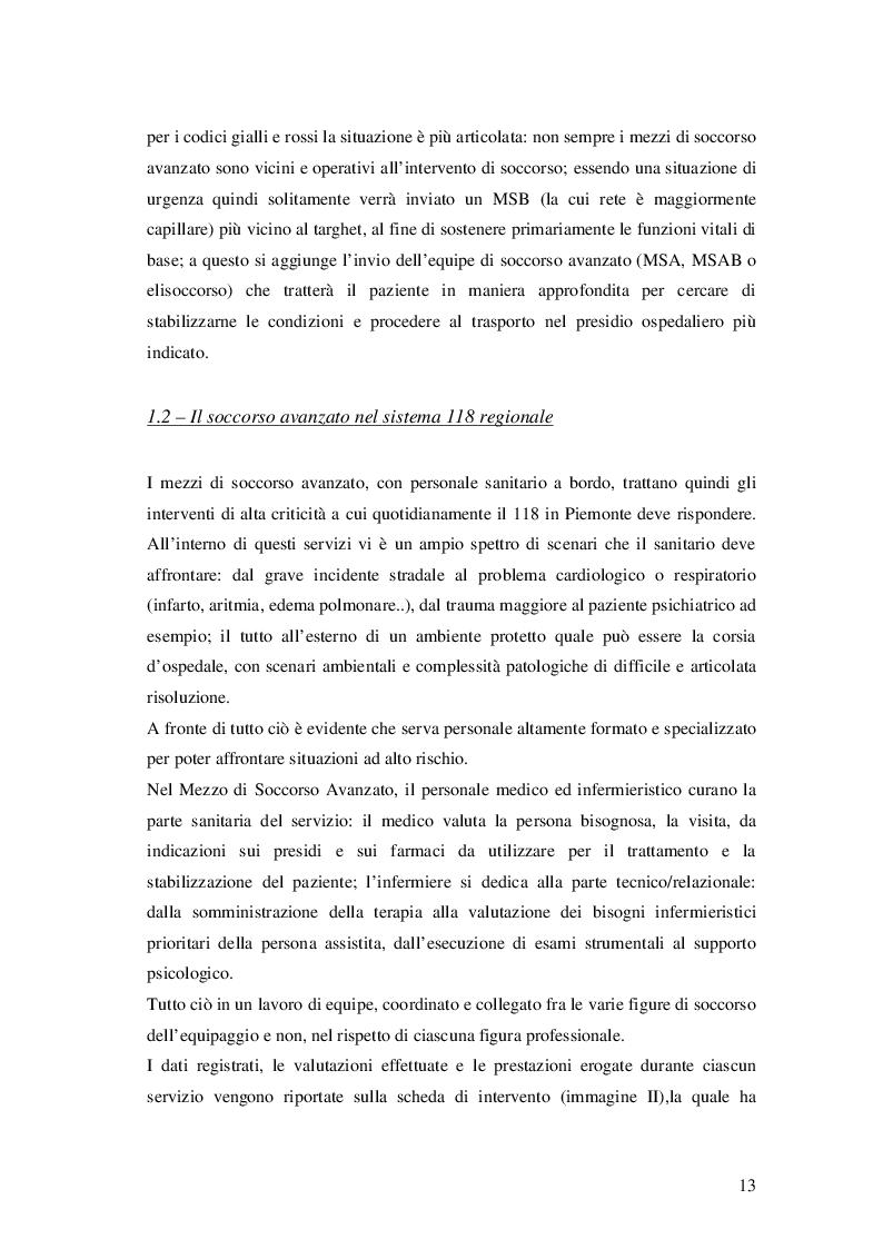 Estratto dalla tesi: Protocolli operativi per l'infermiere 118: autonomia e responsabilità