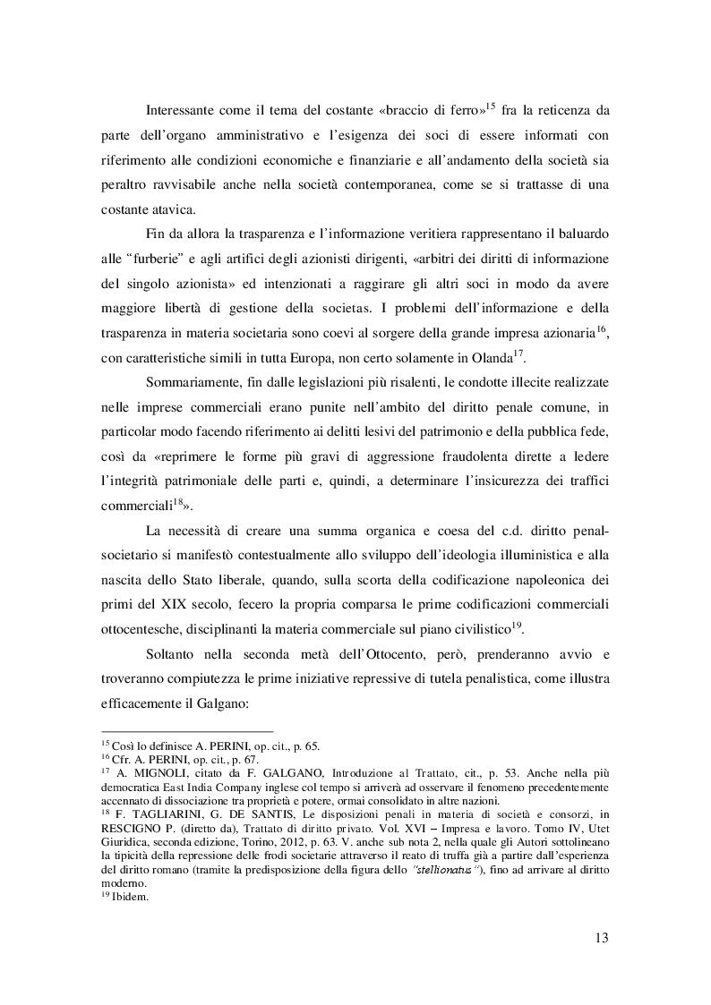 Estratto dalla tesi: Evoluzione storica e quadro normativo attuale del reato di false comunicazioni sociali