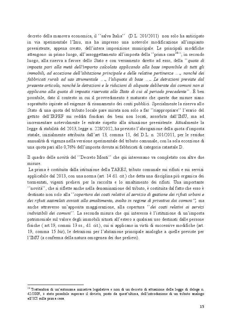Estratto dalla tesi: L'imposta municipale urbana, il ruolo del comune nell'ottica del federalismo fiscale