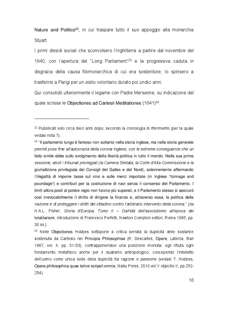 Estratto dalla tesi: Il contratto sociale in Thomas Hobbes: analisi dei testi e riletture storiografiche