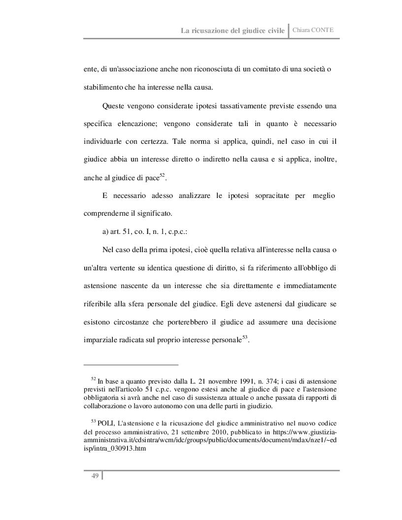 Estratto dalla tesi: La ricusazione del giudice civile