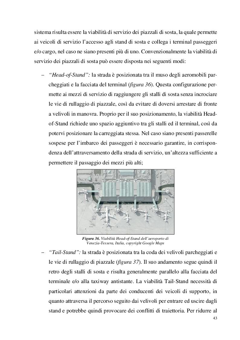 """Estratto dalla tesi: Analisi funzionale dei piazzali di sosta aeroportuali: """"Aprons"""""""