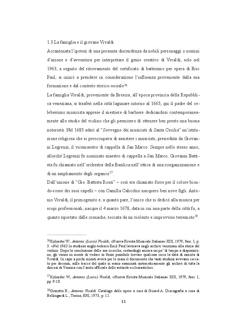 Estratto dalla tesi: Antonio Vivaldi: L' Opera VIII e il concerto n. 5 La tempesta di mare
