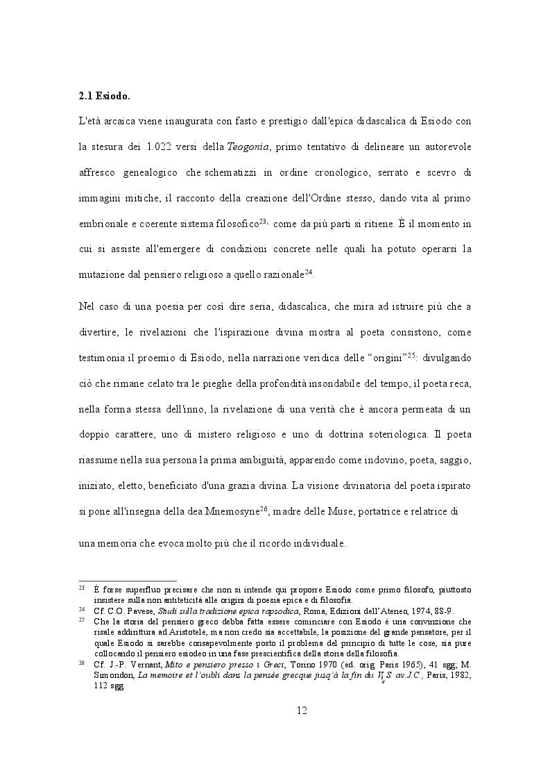 Estratto dalla tesi: Evoluzione di un proemio: eredità e metamorfosi in Esiodo e Nonno di Panopoli