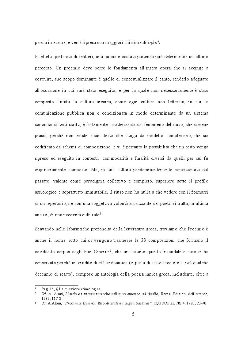 Anteprima della tesi: Evoluzione di un proemio: eredità e metamorfosi in Esiodo e Nonno di Panopoli, Pagina 4