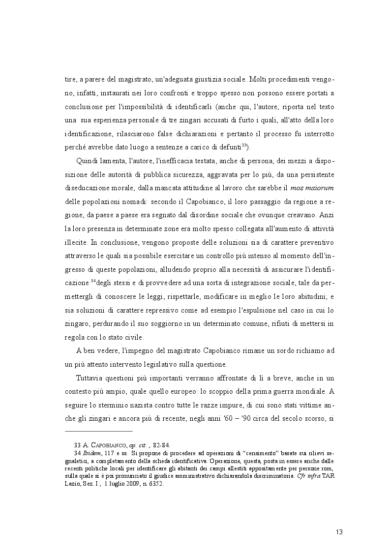 Estratto dalla tesi: Emergenza Nomadi. Profili di diritto amministrativo.
