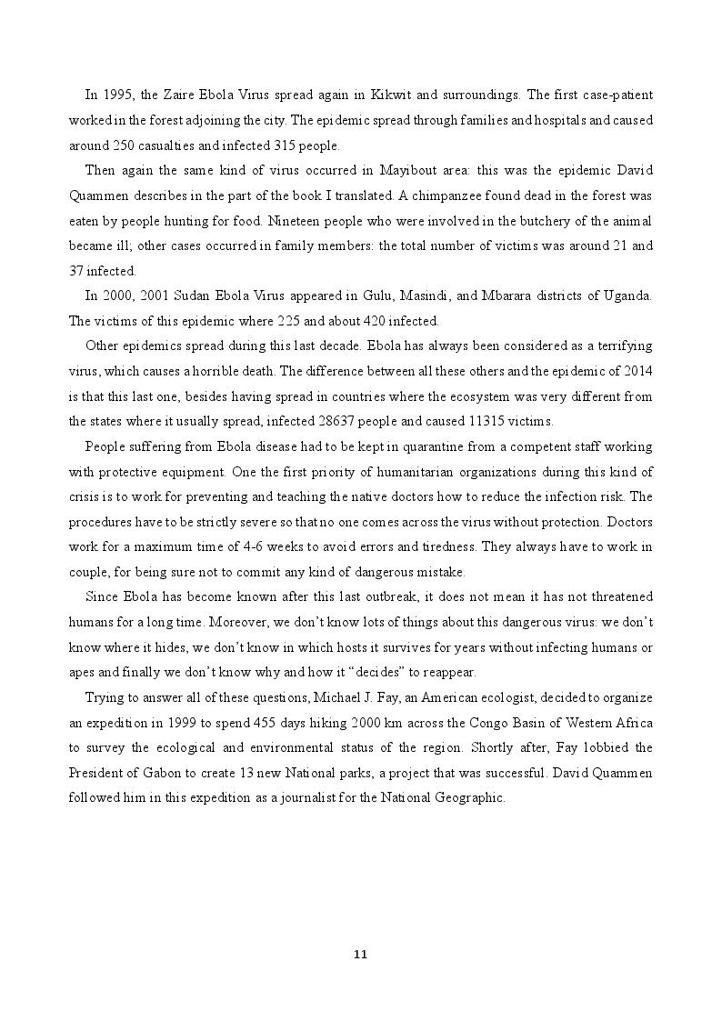 Estratto dalla tesi: EVD - The Ebola Virus Disease, una traduzione medica