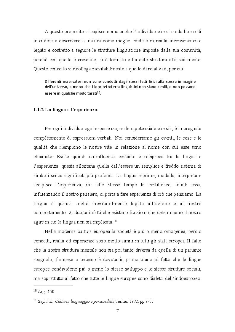 Estratto dalla tesi: Relativismo linguistico: l'efficacia della traduzione