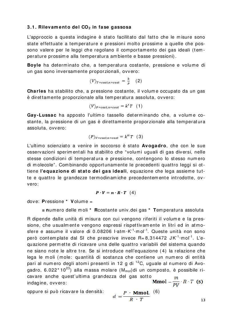 Estratto dalla tesi: Indagine sulla presenza del Diossido di Carbonio in alcune cavità naturali del Carso Classico