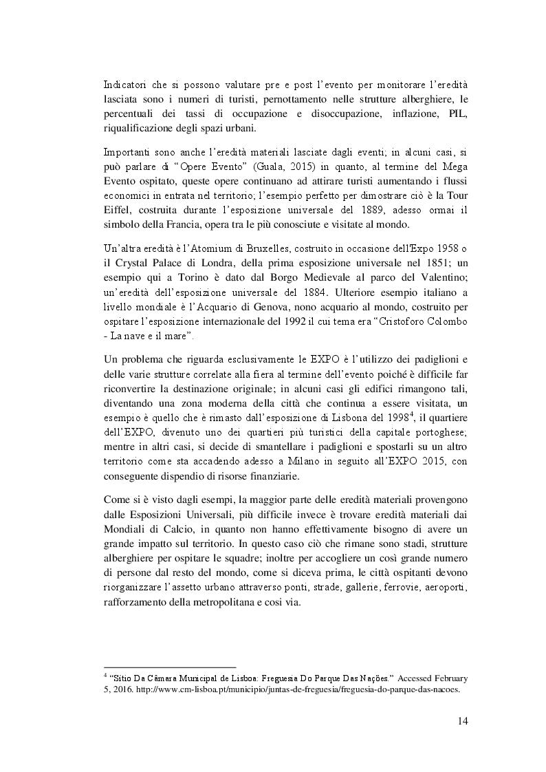 Estratto dalla tesi: Management dei Mega Eventi nei paesi in via di sviluppo: come reagisce il Brasile