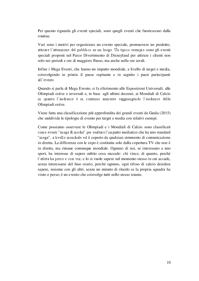 Anteprima della tesi: Management dei Mega Eventi nei paesi in via di sviluppo: come reagisce il Brasile, Pagina 7
