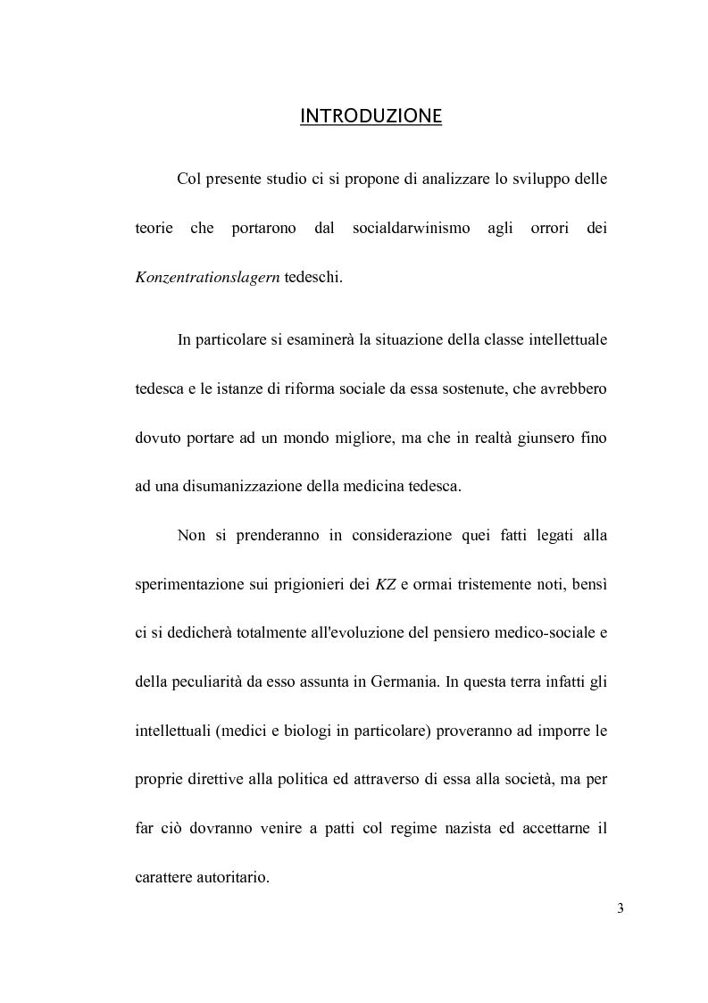 Anteprima della tesi: Il consenso preparatorio: il ruolo dei medici socialdarwinisti e il nazismo, Pagina 1