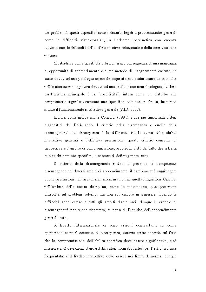 Estratto dalla tesi: Profilo metacognitivo, cognitivo ed emotivo in un campione di studenti con insuccesso scolastico