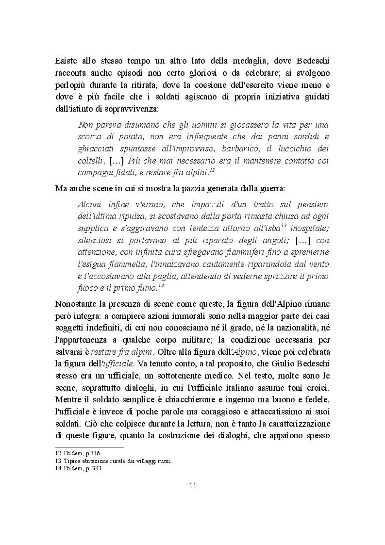 Estratto dalla tesi: Due letture della Campagna di Russia (1941-1943): Mario Rigoni Stern e Giulio Bedeschi