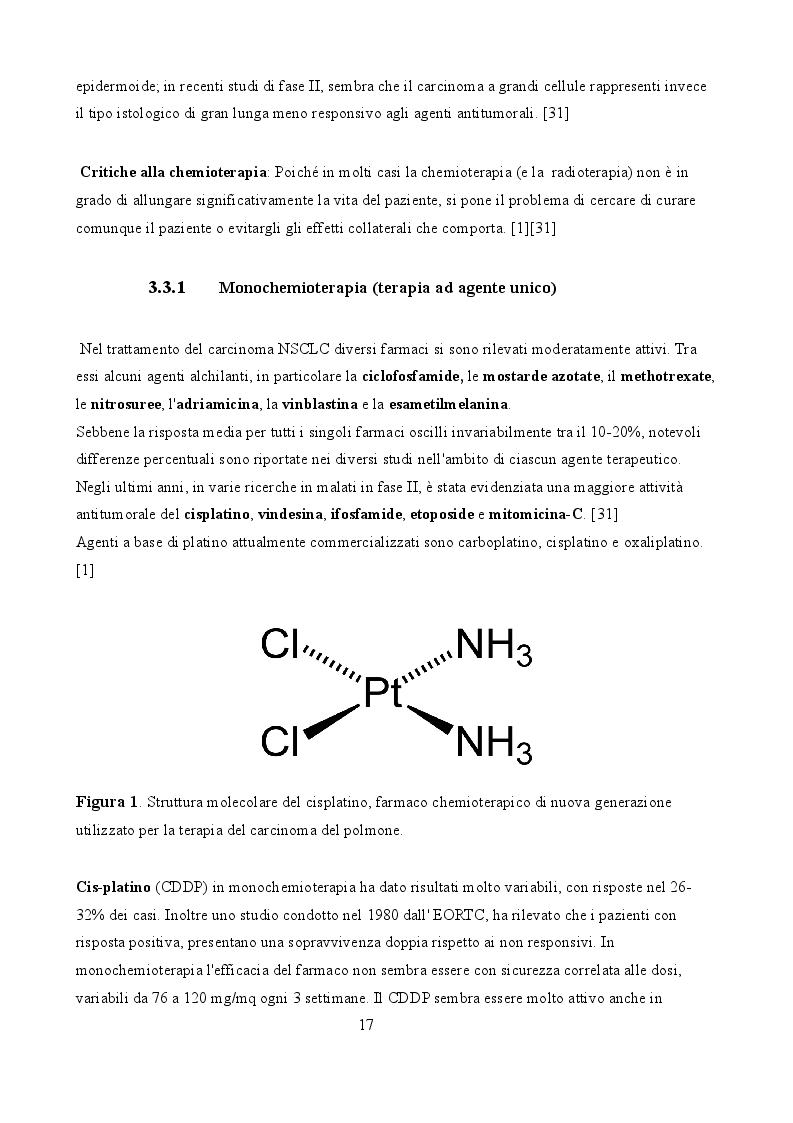 Anteprima della tesi: La terapia del carcinoma polmonare non a piccole cellule e le aspettative del futuro, Pagina 3
